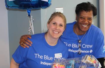 Blue Crew Volunteer Sarah Villamayor