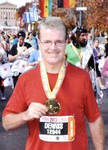 Dennis after completing the 2013 Philadelphia Marathon