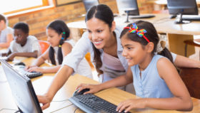Independence Blue Cross supports the mission of TechGirlz in Philadelphia to inspire middle-school girls to become interested in technology careers.