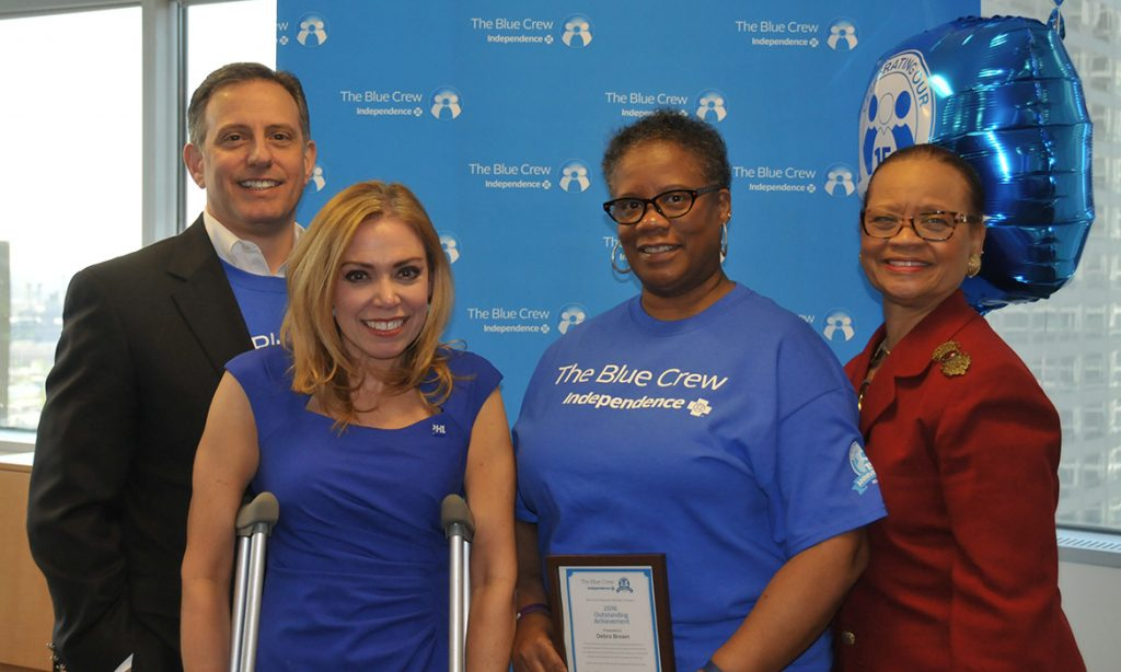 We're honoring blue crew volunteer Debra Brown for all of her hard work with the Independence Blue Crew.