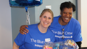 Blue Crew Volunteer Sarah Villamayor