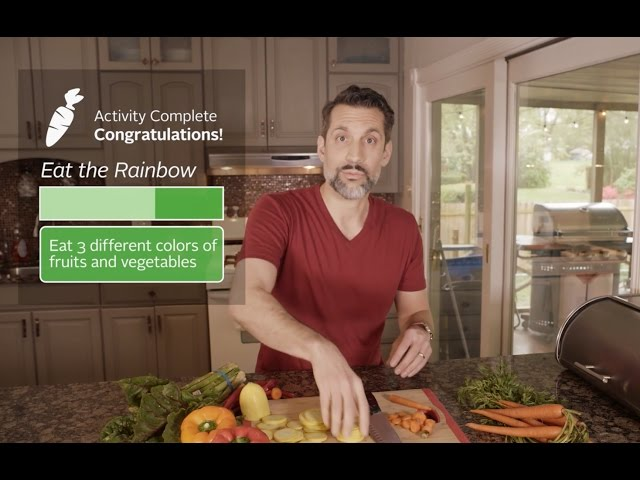 A screenshot from a customized Achieve Well-being video