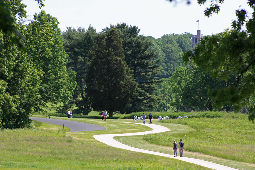 A trail at Valley Forge National Historic Park