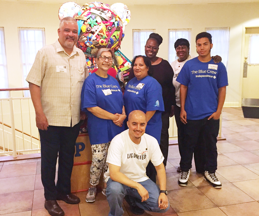 The IBX Blue Crew celebrated Hispanic Heritage Month by preparing and serving a traditional meal to residents at the Philadelphia Ronald McDonald House.