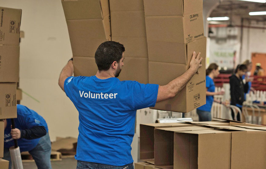 A team of Independence employees spent a day volunteering together and realized they not only helped their community but also strengthened their team.