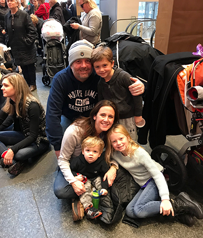 Andrea Meehan and family at the Comcast Holiday Spectacular
