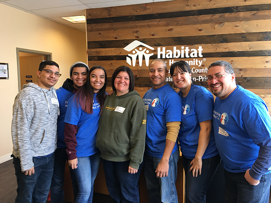 A group of volunteers at Habitat for Humanity's ReStore