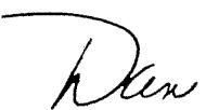 Dan written in script