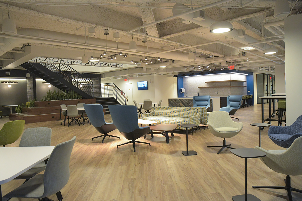 Inside of the Independence Center for Innovation
