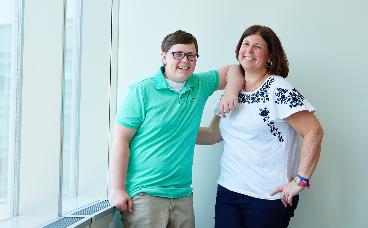 Melissa Matyas and her son Nicholas, smiling