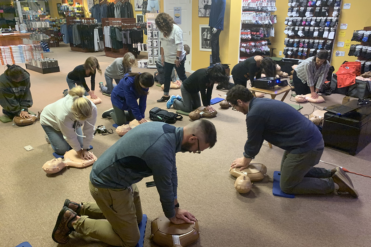 Penn Medicine's Mobile CPR Project leads training at The Running Place in Newton Square, PA, Pennsylvania