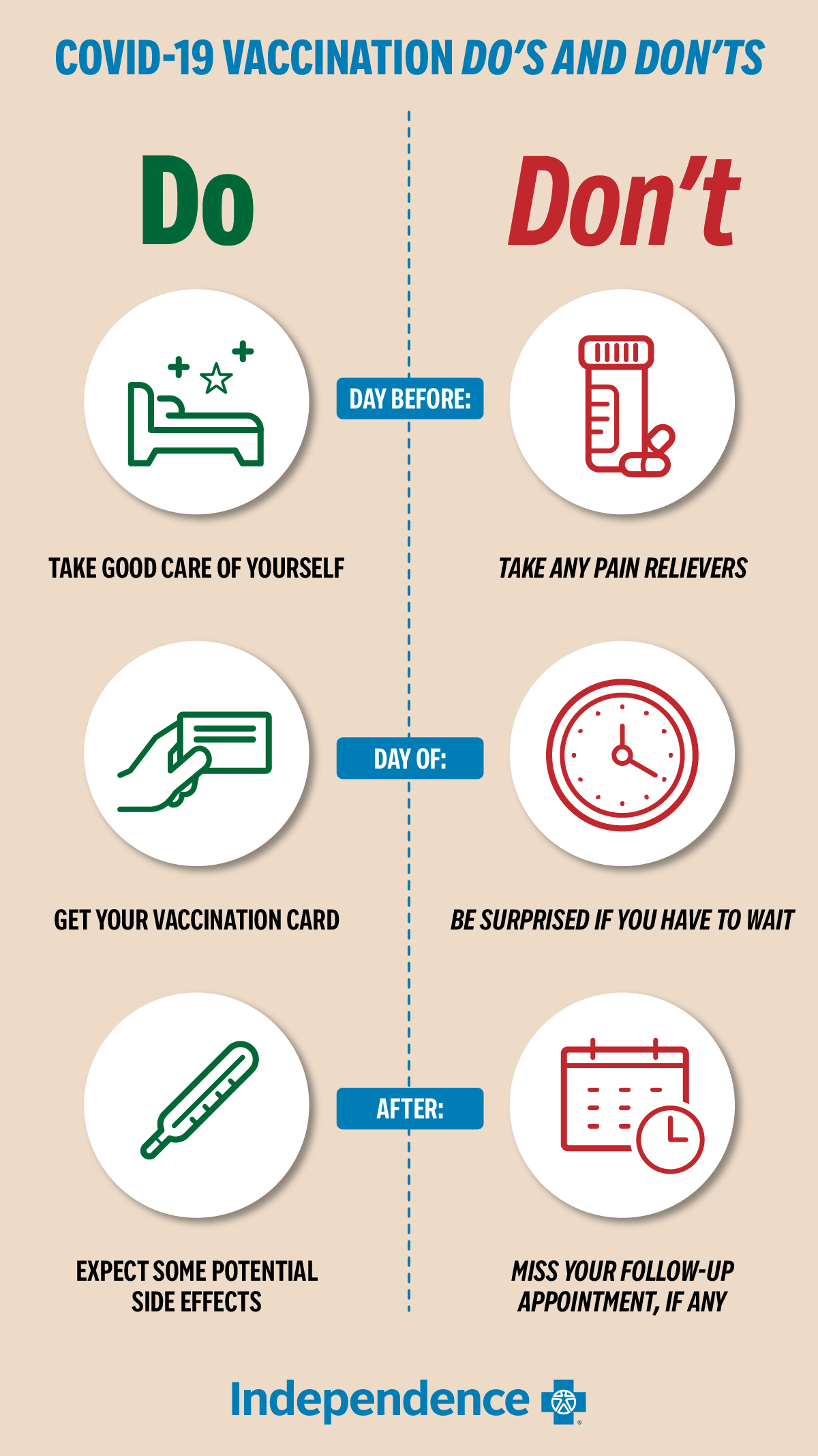 Infographic: List of COVID vaccination do's and don'ts
