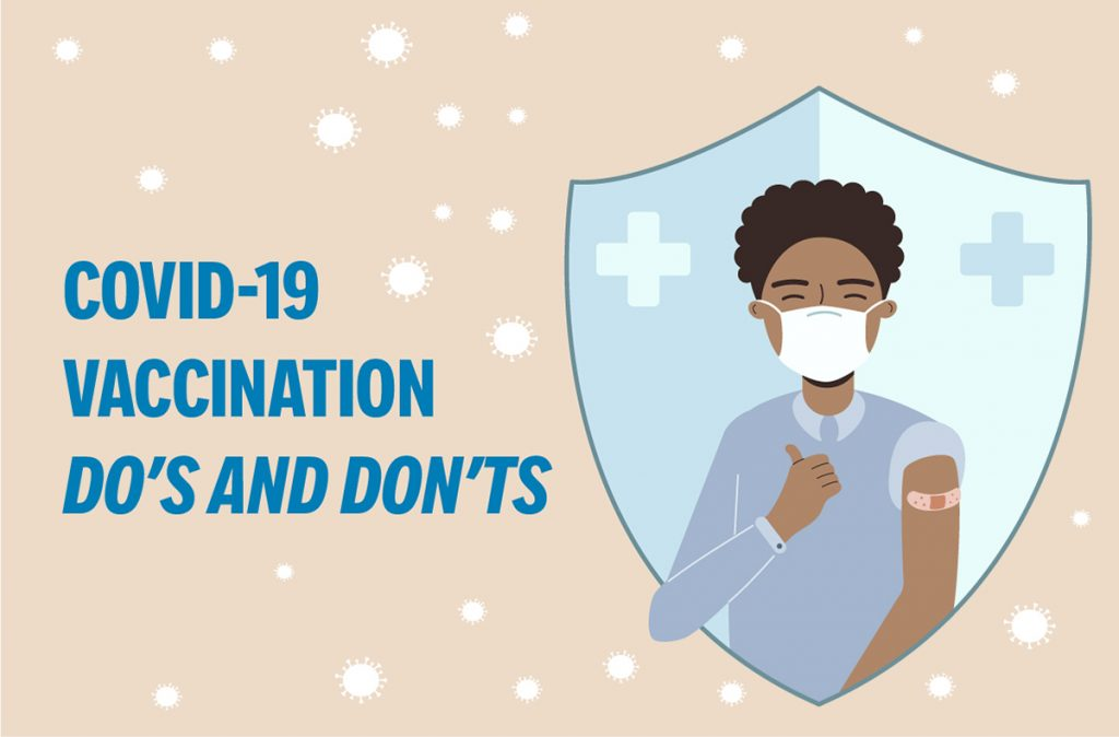 Graphic: COVID-19 Vaccination Do's and Don'ts