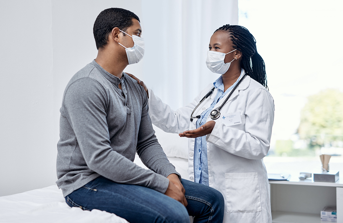 A doctor having a consultation with a patient