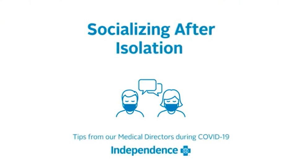 Title scree: Socialization After Isolation