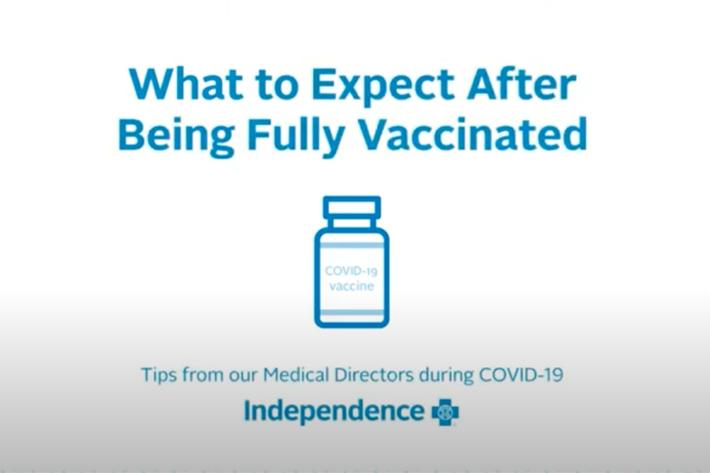 Slide- What to Expect After Being Fully Vaccinated